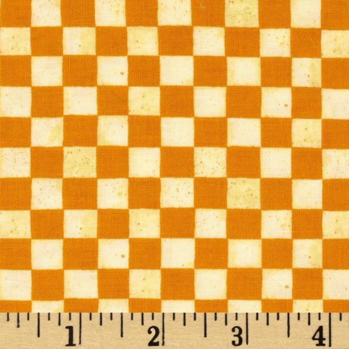 Fresh Eggs Checkerboard Orange