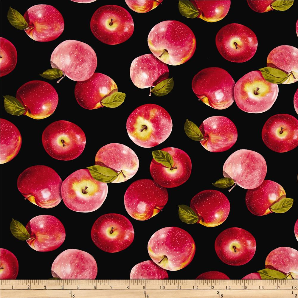 Kanvas Apple Blossom Festival Tossed Apples Black