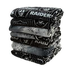 Three Pound NFL Fleece Remnant Bundle Oakland Raiders