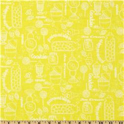 Gumdrops & Lollipops Sweetshoppe Toile Yellow