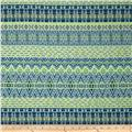 Designer Double Pique Knit Aztec Blue/Neon Lime
