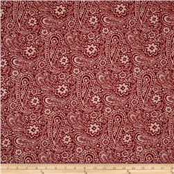 Bohemian Bold Paisley Red