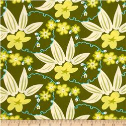 Arianna Posey Vine Olive Fabric