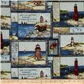 Country Lighthouses Patchwork Multi