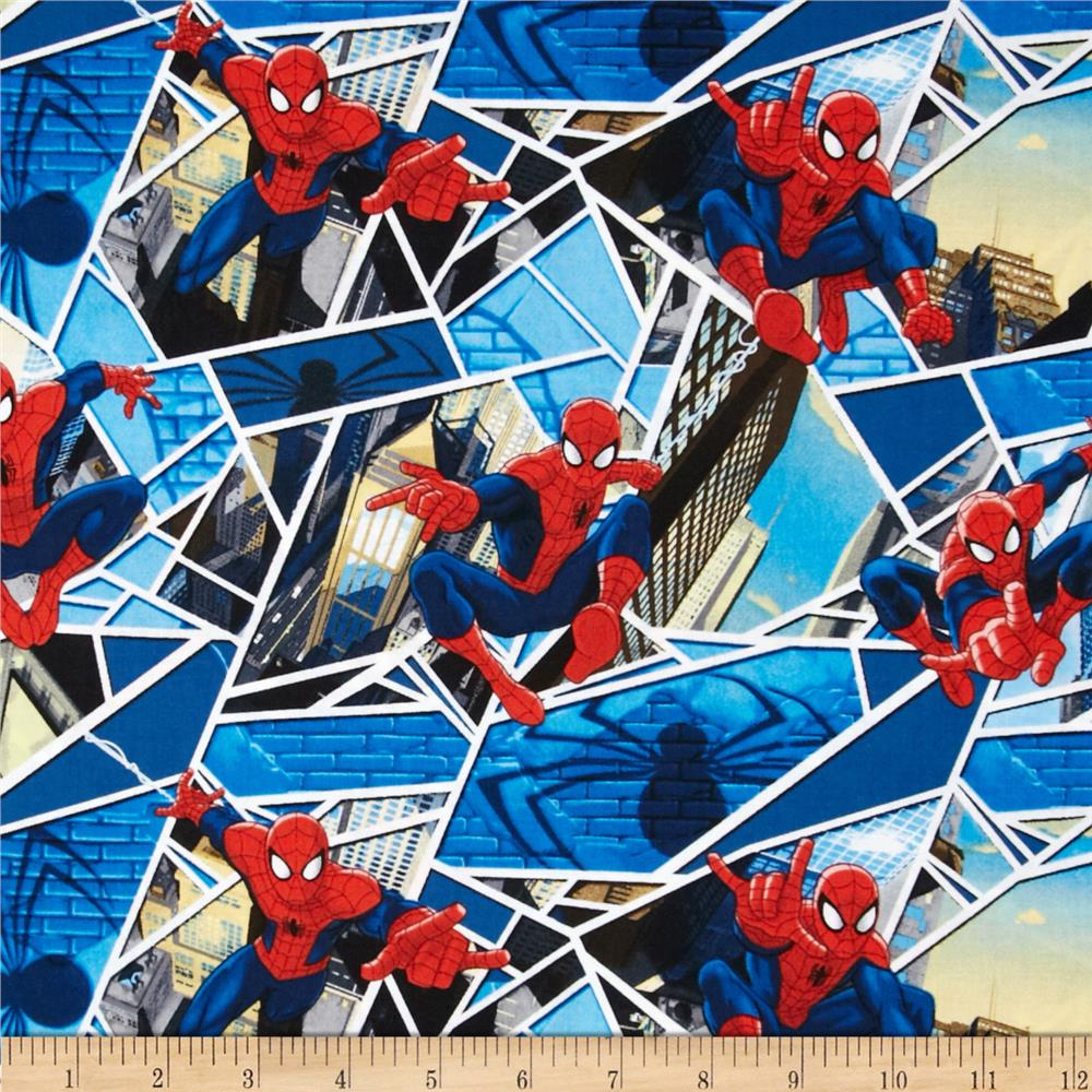 Marvel Comics Spiderman Panes Blue