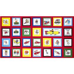 Busytown Panel Red Multi