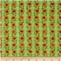 Pleasant Farm Sunflower Stripe Meadow Green