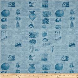 Vintage Seedpackets Tonal Blue