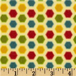 Riley Blake Cruiser Blvd Flannel Hexi Yellow