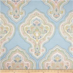 Tempo Damask Baby Blue Fabric