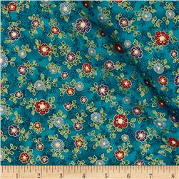 Kaufman La Scala 7 Metallic Small Flower Jewel