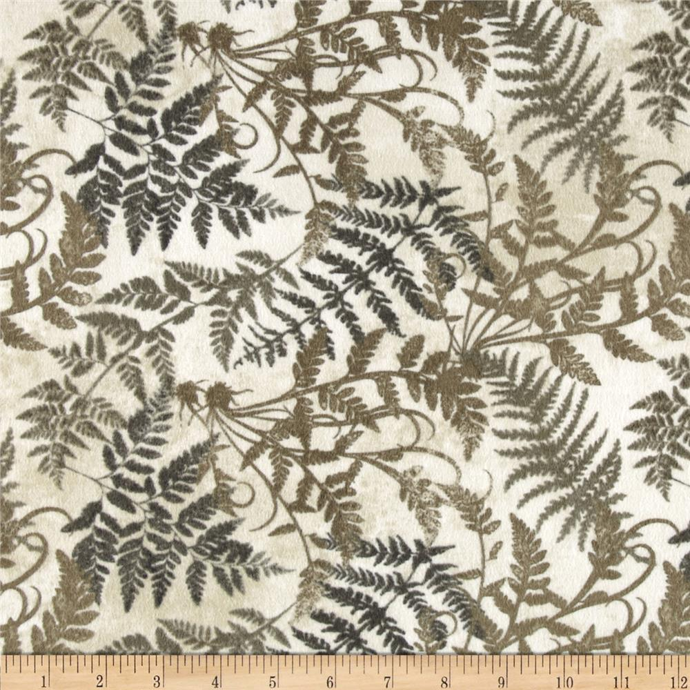 Stonehenge Hidden Valley Flannel Fronds Gray/Taupe