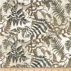 Stonehenge Hidden Valley Flannel Fronds Grey/Taupe