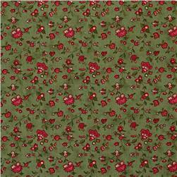 Moda Wintergreen Vines & Florals Holly Leaf