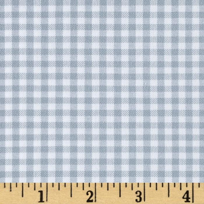 Kaufman 1/8'' Carolina Gingham Platinum