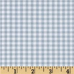 Woven 1/8'' Carolina Gingham Platinum