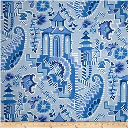 Home Accent Forbidden City Novelty Blue Willow