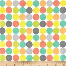 Comfy Flannel Dot White/Multi