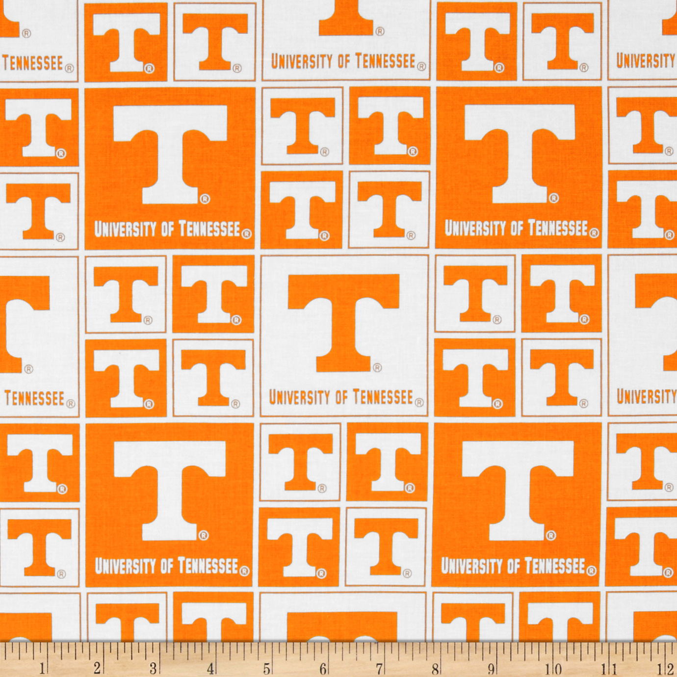 Collegiate Cotton Broadcloth University of Tennessee