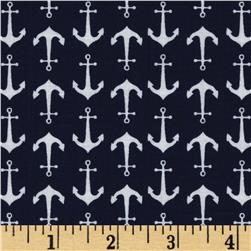 Riley Blake Holiday Banners Anchors Blue