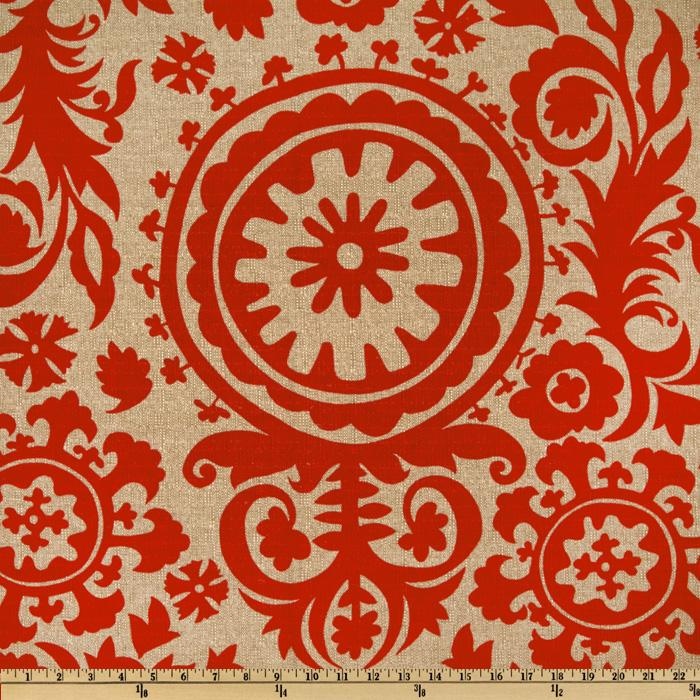 Premier Prints Suzani Adventurous Red/Denton