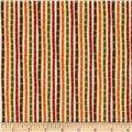 Moda Perfectly Seasoned Stripe Multi/Red Maple