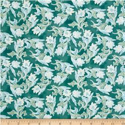 Bali Paradise Floral Sea Breeze Teal