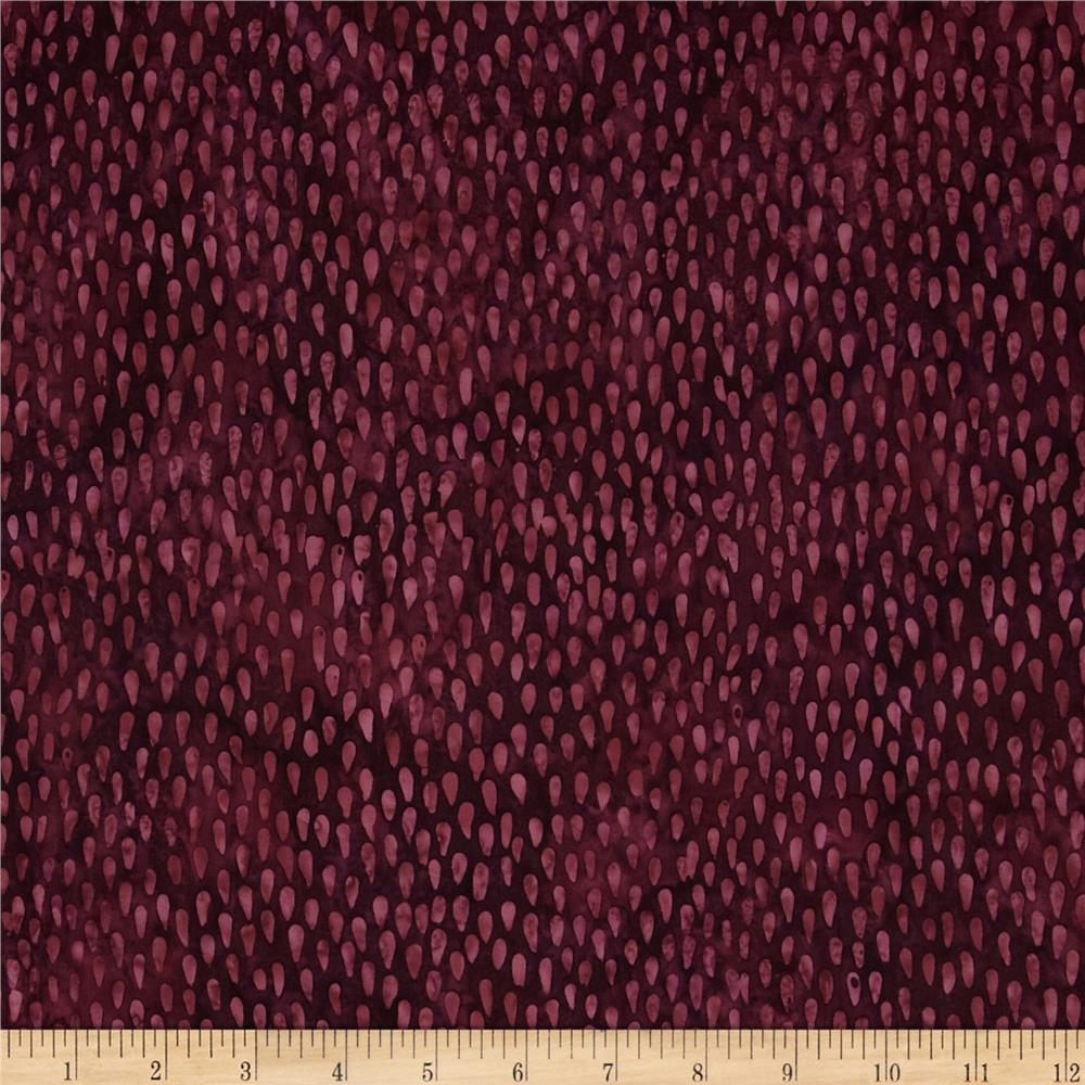 Timeless Treasures Tonga Batik Rain Drops Plum