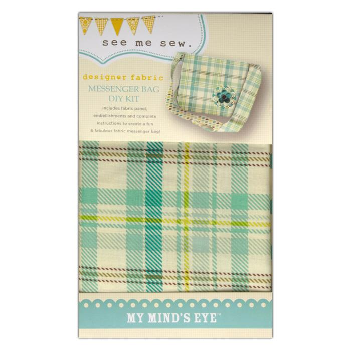 My Mind's Eye See Me Sew Messenger Bay DIY Kit Blue
