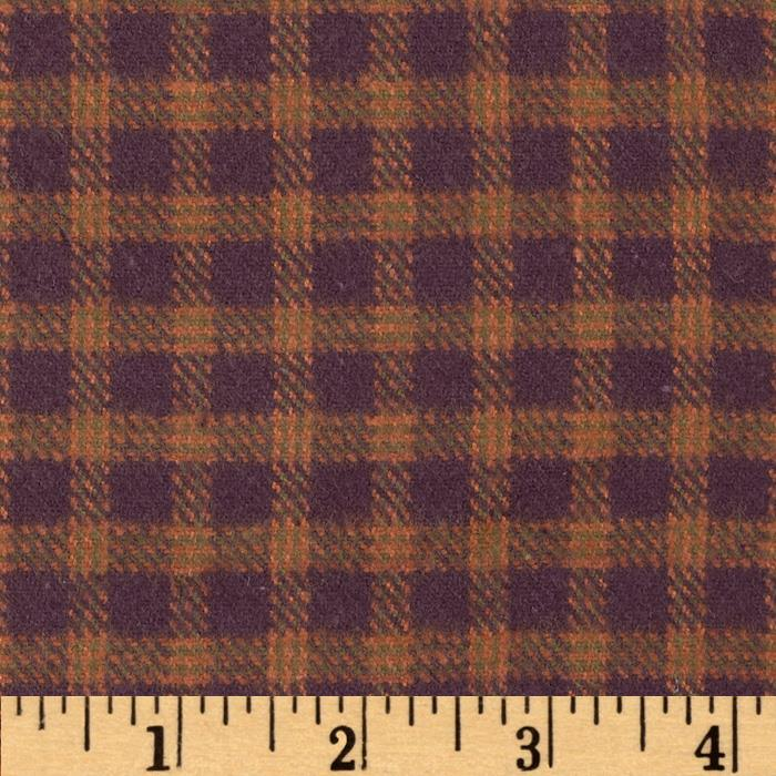 Primo Plaids V Flannel Micro Plaid Rust Fabric By The Yard