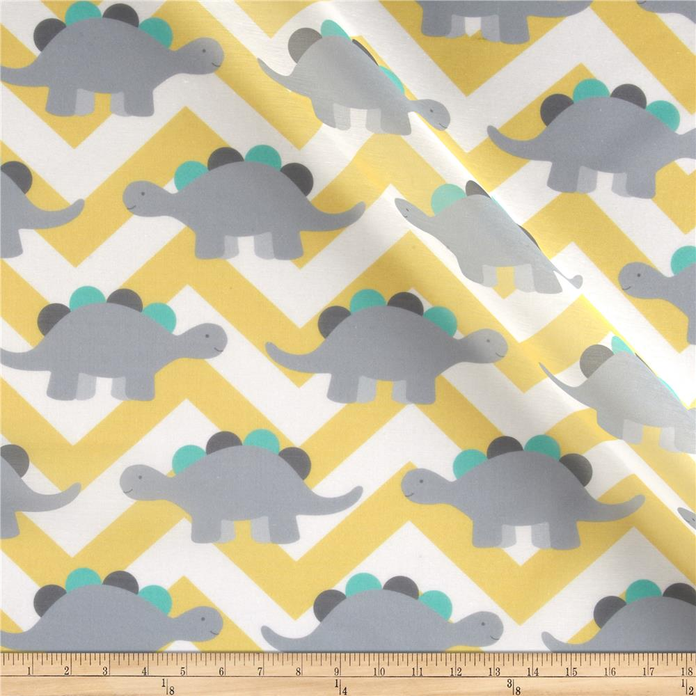 Rca dinosaur chevron sheers grey discount designer for Grey dinosaur fabric