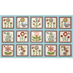 Cottage Charm Panel Blue