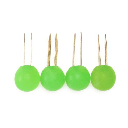 Matte Resin Ball Handbag Feet Green 4/pkg