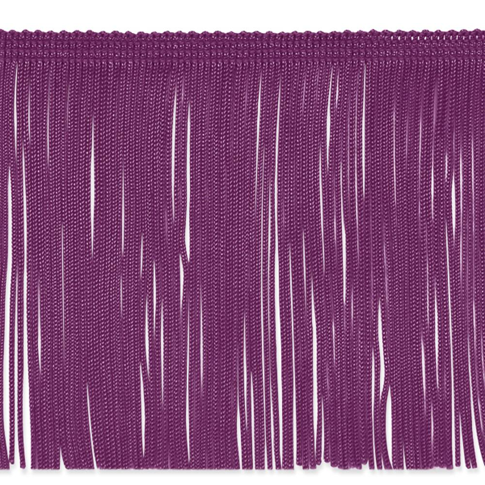 "6"" Chainette Fringe Trim Purple"