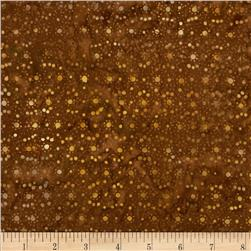 Batavian Batiks Mini Dots Medium Brown