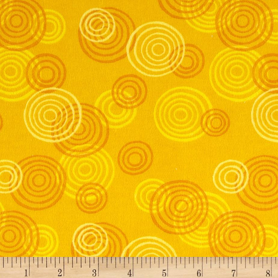 Jungle Buddies Flannel Large Swirls Orange