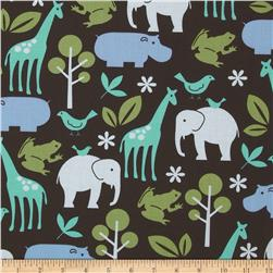Michael Miller Zoology Brown Fabric