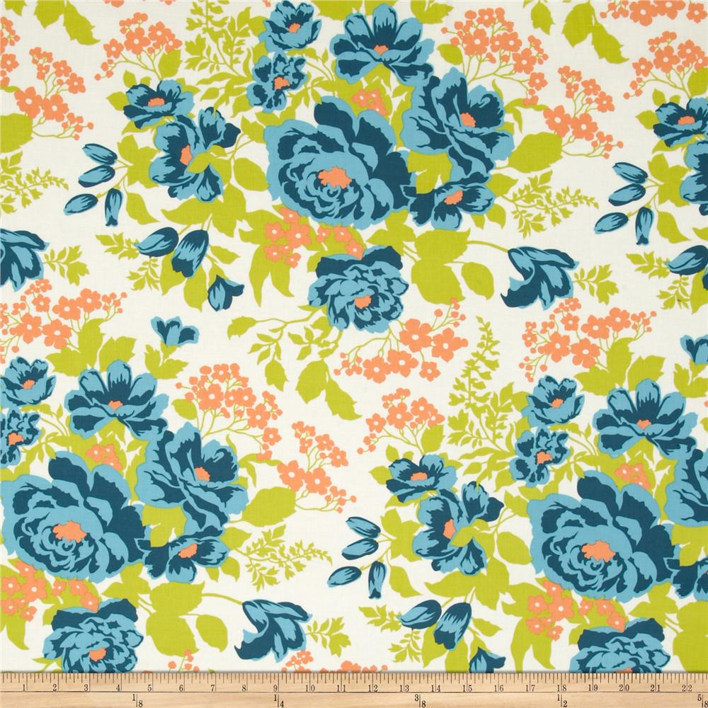Joel Dewberry Flora Rose Bouquet Carrot Fabric