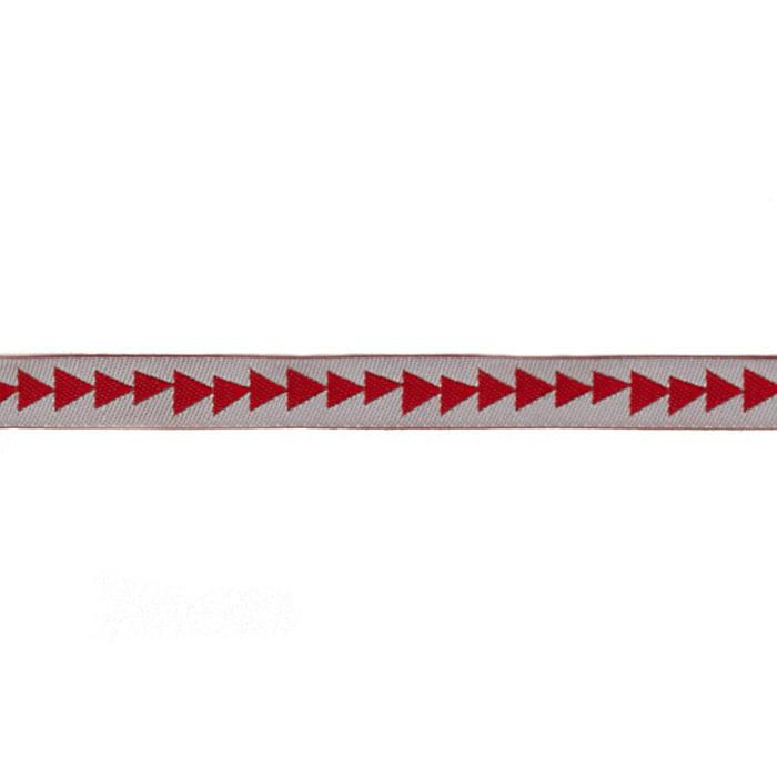 "3/8"" Sue Spargo Arrowhead Ribbon Red/Silver"