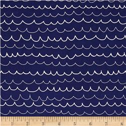 Riley Blake Treasure Map Waves Navy