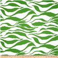 Cotton Jersey Knit Zebra Green/White