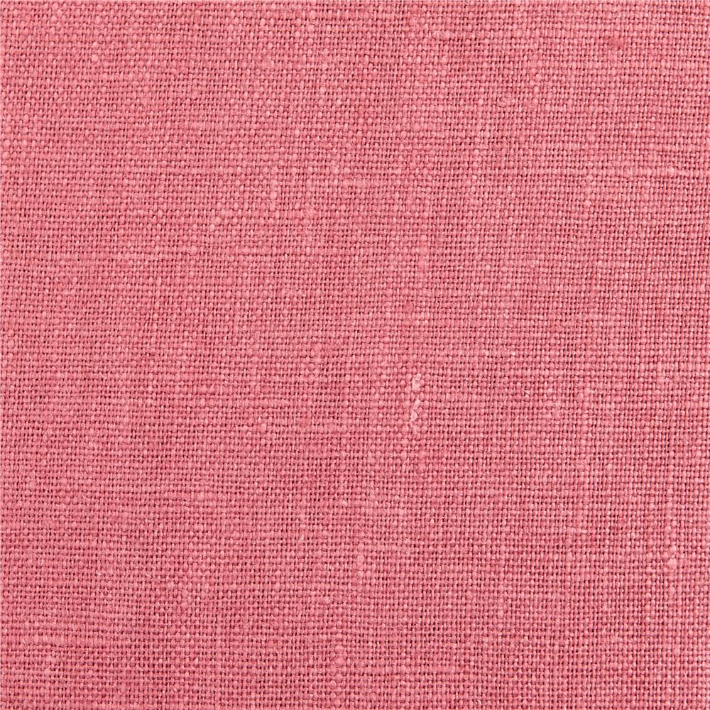 European 100% Washed Linen Rose