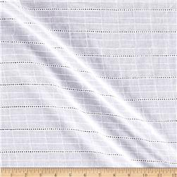 Cotton Eyelet Rectangular Stripe White