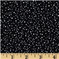 Downton Abbey Christmas Metallic Pearl Snow Black