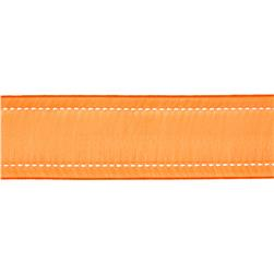 "1 1/2"" Sheer Stitched Edge Ribbon Orange"