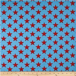 Premier Prints Stars Powder Blue