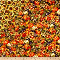 Bountiful Harvest Double Face Quilted Multi