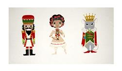 "Alexander Henry Christmas Time Nutcracker 24"" Panel Dark Red"