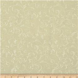 110'' Wide Quilt Backing Filigree Ivory/White Fabric