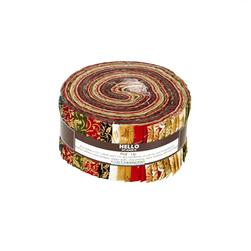 Robert Kaufman Winter's Grandeur Holiday 2.5 In Jelly Roll Multi
